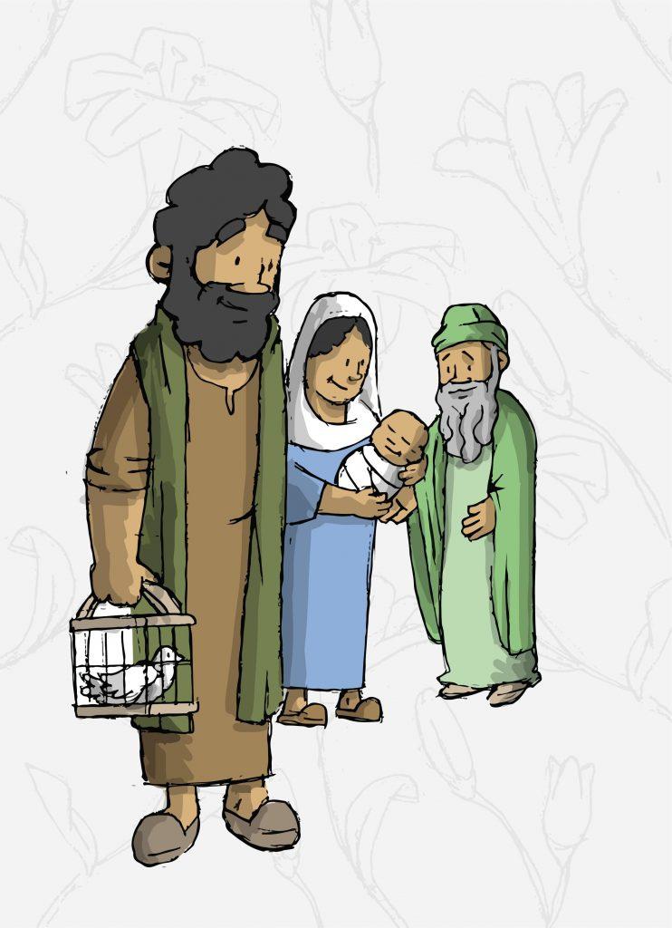 San José presentando al Niño en el Templo