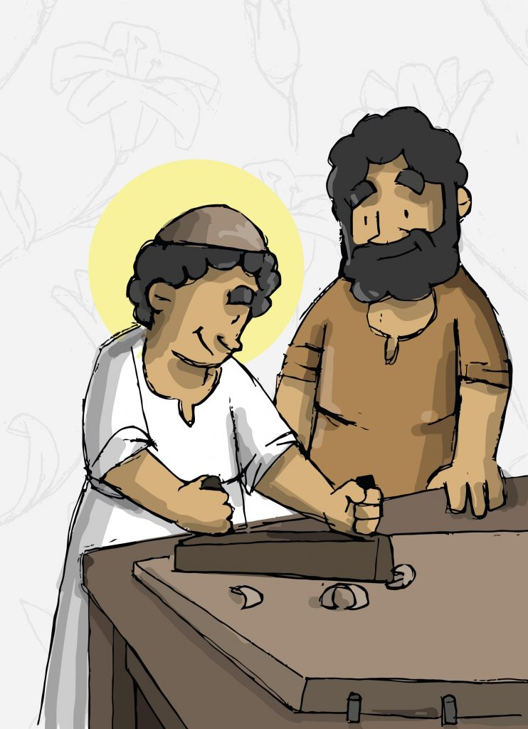 San José enseña a Jesús