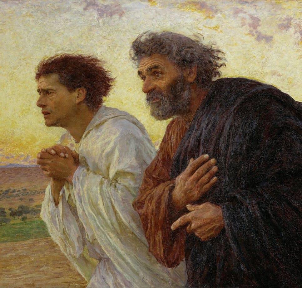 Los discípulos en la mañana de la Resurrección