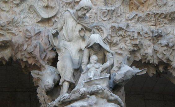 Sagrada Familia en el Templo Expiatorio de Barcelona